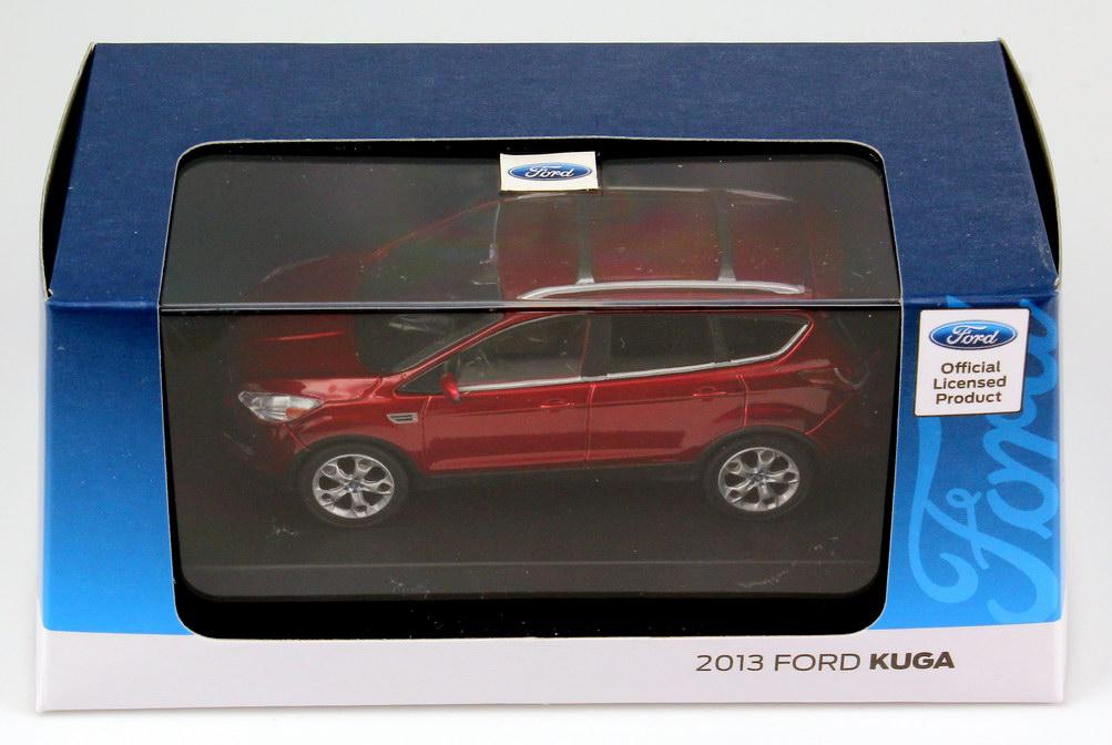 Ford Kuga Ii 2013 Rot Met Werbemodell Greenlight Bild 8