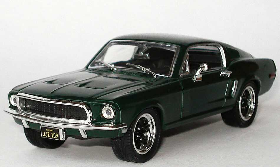 1 43 ford mustang i gt 1968 dark green green steve mcqueen bullit yat ming ebay. Black Bedroom Furniture Sets. Home Design Ideas