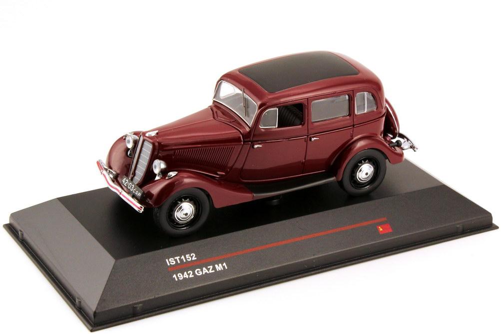 1:43 GAZ M1 (1942) dunkel-rot