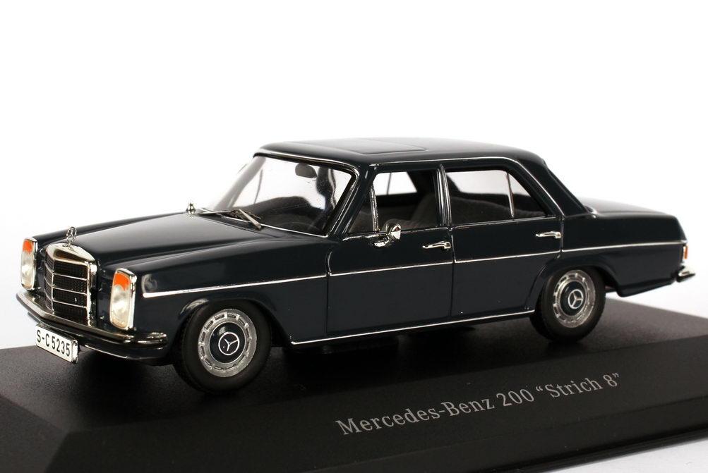 mercedes benz 200 8 strich 8 w115 dunkelblaugrau werbemodell ixo b66040386 bild 3. Black Bedroom Furniture Sets. Home Design Ideas