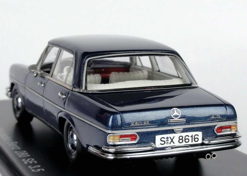 mercedes benz 280se 3 5 w108 blau met werbemodell spark. Black Bedroom Furniture Sets. Home Design Ideas