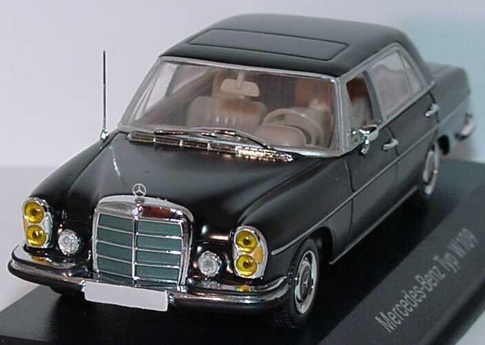Mercedes benz 300 sel 6 3 seidenmattschwarz werbemodell for International mercedes benz milwaukee