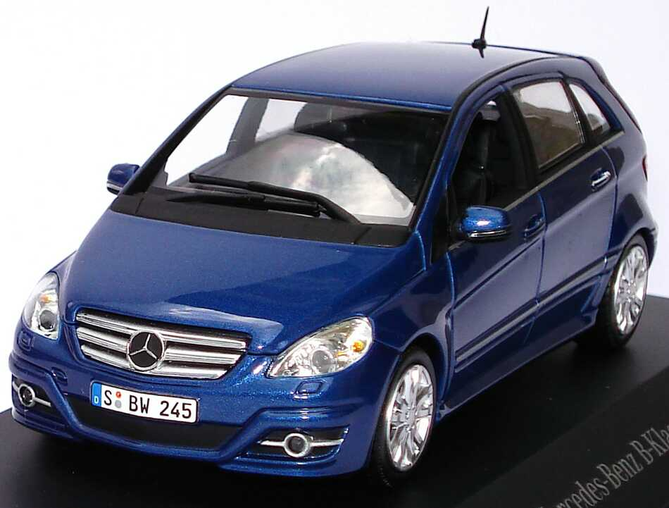 mercedes benz b klasse facelift 2008 w245 lotusblau met werbemodell minichamps b66962407 bild 2. Black Bedroom Furniture Sets. Home Design Ideas