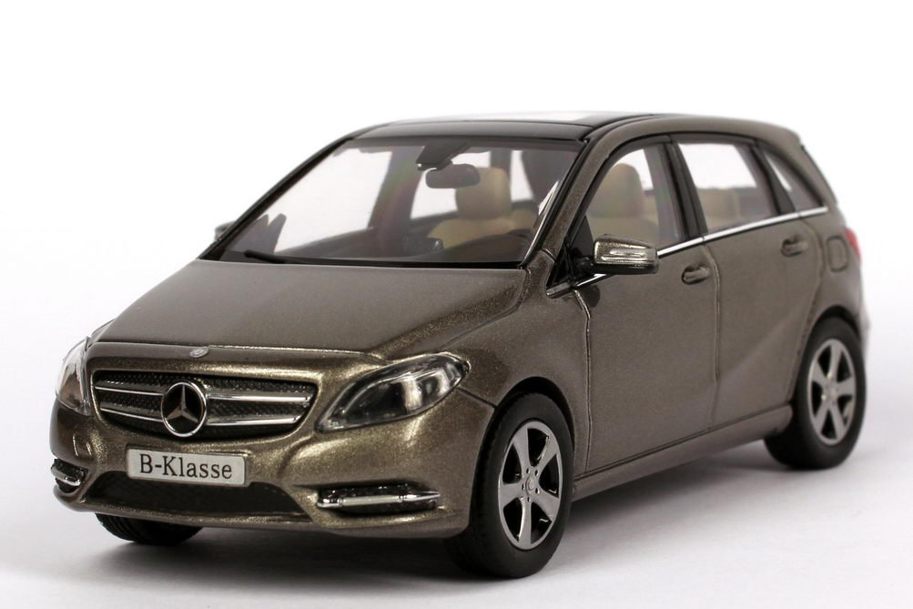 1 43 mercedes benz b klasse w246 monolith grau grey b class dealer edition oem ebay. Black Bedroom Furniture Sets. Home Design Ideas