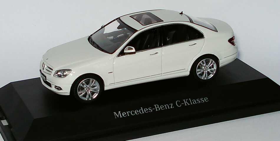 Foto 1:43 Mercedes-Benz C-Klasse Avantgarde W204 calcitweiß - Werbemodell - Schuco B66962375