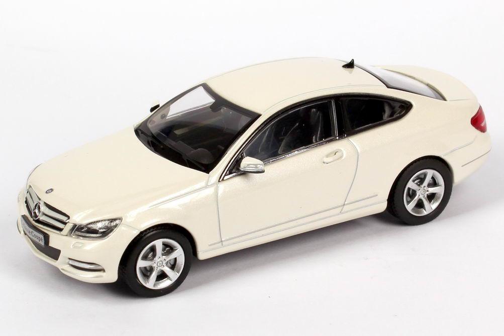 1 43 mercedes benz c class coupe c204 diamond white white for Mercedes benz c class white