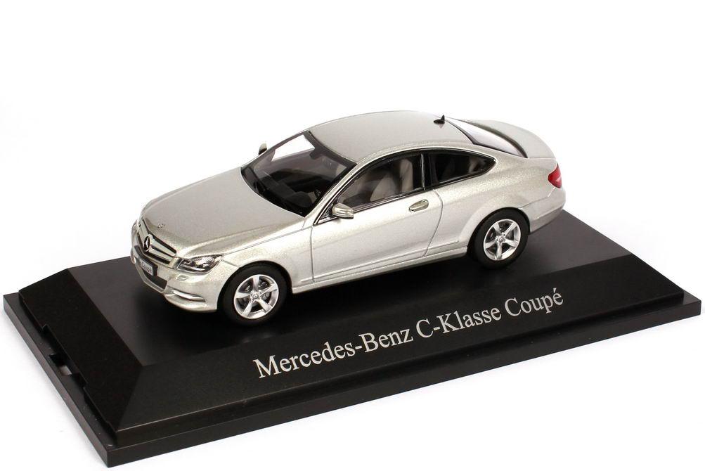1:43 Mercedes-Benz C-Klasse Coupé (C204) iridium-silber-met. (MB)