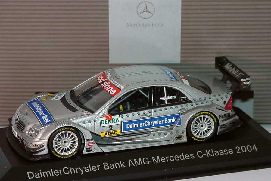 "1:43 Mercedes-Benz C-Klasse DTM 2004 ""Mercedes-Bank"" Nr.2, Christijan Albers (MB)"