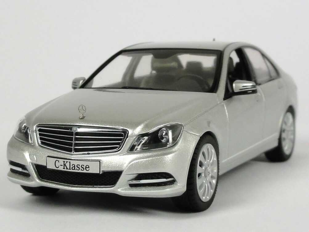 1 43 mercedes benz c klasse facelift 2011 w204 mopf iridium silber silver dealer ebay. Black Bedroom Furniture Sets. Home Design Ideas