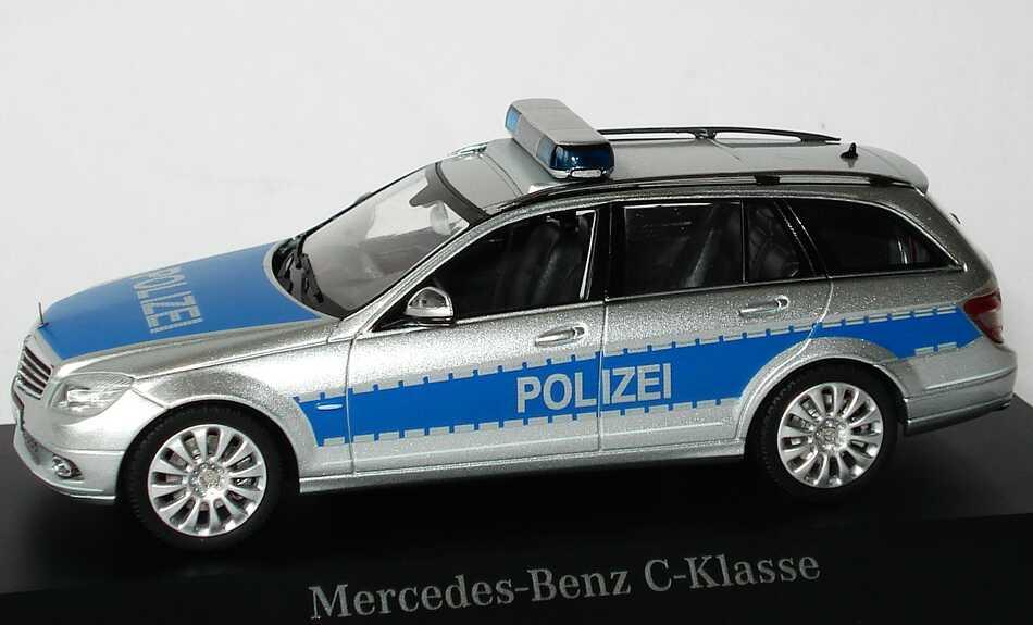1 43 mercedes c klasse t modell s204 polizei promo ebay. Black Bedroom Furniture Sets. Home Design Ideas
