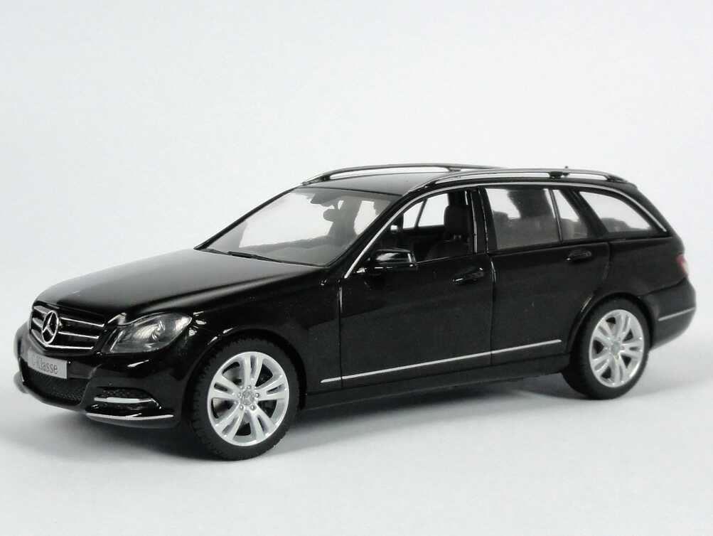 1 43 mercedes benz c klasse t modell 2011 s204 mopf obsidian schwarz black oem ebay. Black Bedroom Furniture Sets. Home Design Ideas
