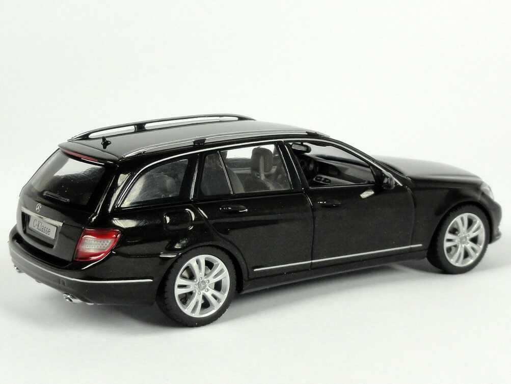 1 43 mercedes benz c klasse t modell 2011 s204 mopf obsidian schwarz black oem ebay. Black Bedroom Furniture Sets. Home Design Ideas