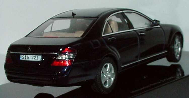 Mercedes Benz S Klasse W221 2005 Tansanitblau Met