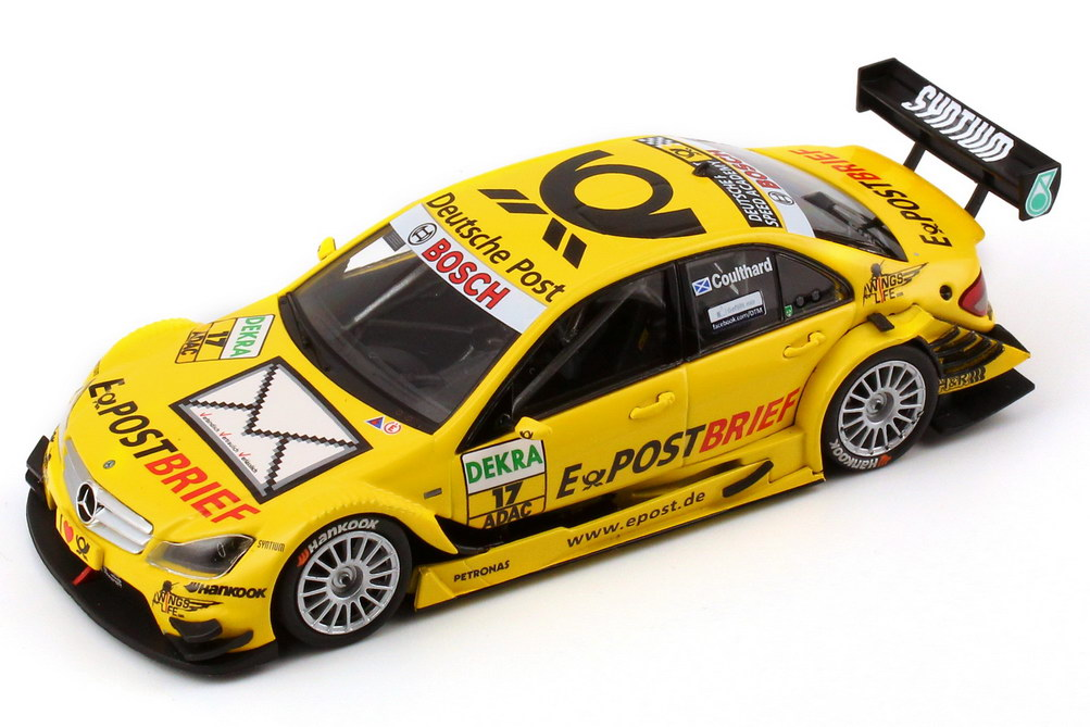 "1:43 Mercedes-Benz C-Klasse (W204 MOPF) DTM 2011 ""E-PostBrief"" Nr.17, David Coulthard (MB)"