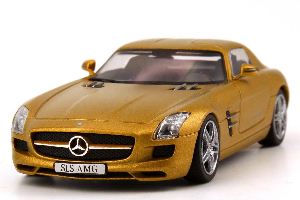 mercedes benz sls amg gold met schuco 07414 bild 3. Black Bedroom Furniture Sets. Home Design Ideas