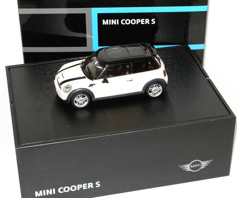 1 43 Mini Cooper S 2006 Pepperwhite Dach Schwarz
