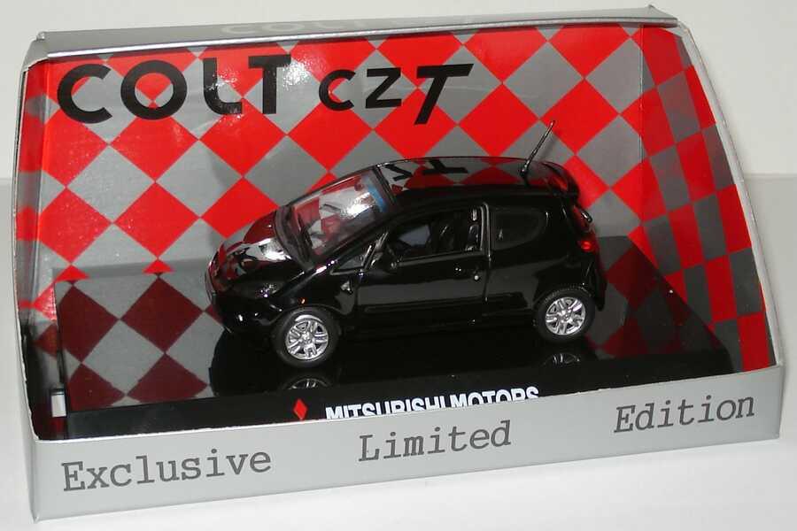 Foto 1:43 Mitsubishi Colt CZT cosmos-schwarz Werbemodell Vitesse MME50111