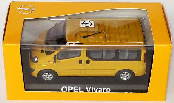 1 43 opel vivaro kombi van facelift maisgelb gelb yellow dealer edition ebay. Black Bedroom Furniture Sets. Home Design Ideas