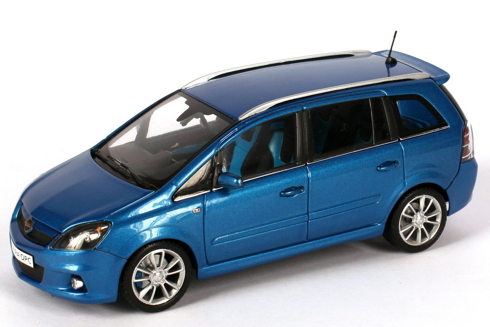 1 43 opel zafira b opc arden blau blue dealer edition. Black Bedroom Furniture Sets. Home Design Ideas