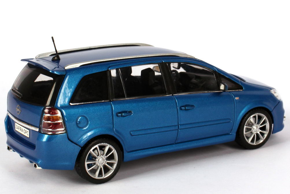 1 43 opel zafira b opc arden blue dealer edition oem ebay. Black Bedroom Furniture Sets. Home Design Ideas