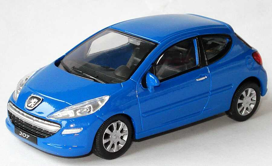 1 43 peugeot 207 3t rig blau mondo motors 53 124 for M i motors