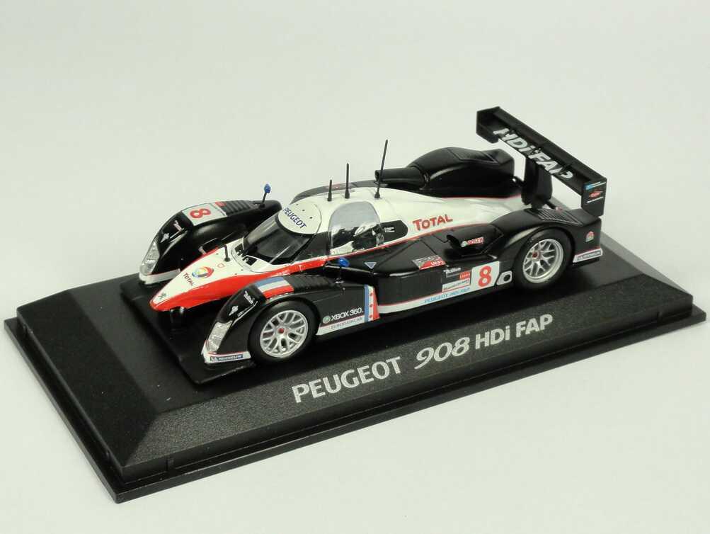 """1:43 Peugeot 908 HDi FAP LeMans 2007 """"Total"""" Nr.8, Lamy / Sarrazin / Bourdais"""
