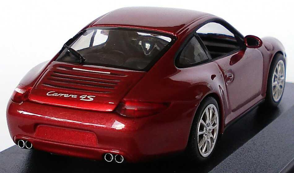 Foto 1:43 Porsche 911 Carrera 4S (997, Modell 2009) rubinrot-met. Werbemodell Minichamps WAP02001718