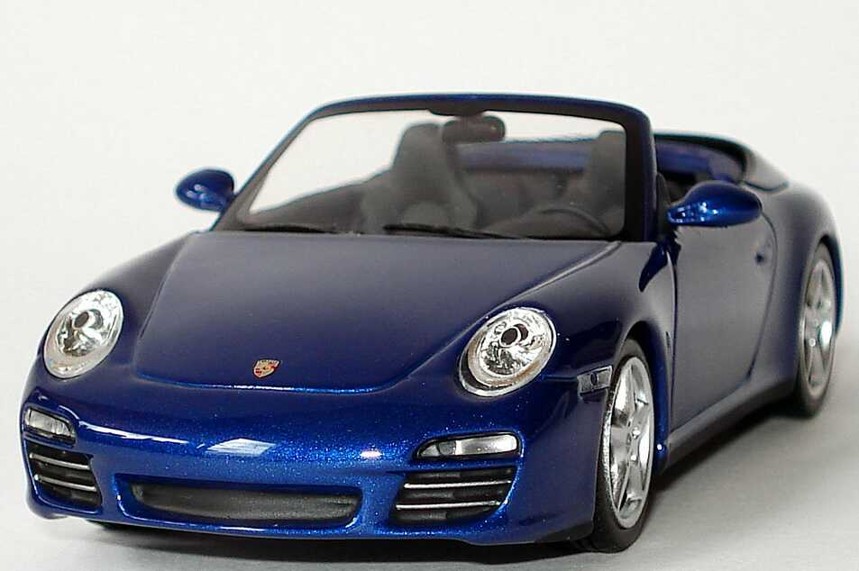 1 43 porsche 911 carrera 4s cabrio 997 2009 blue dealer ebay. Black Bedroom Furniture Sets. Home Design Ideas