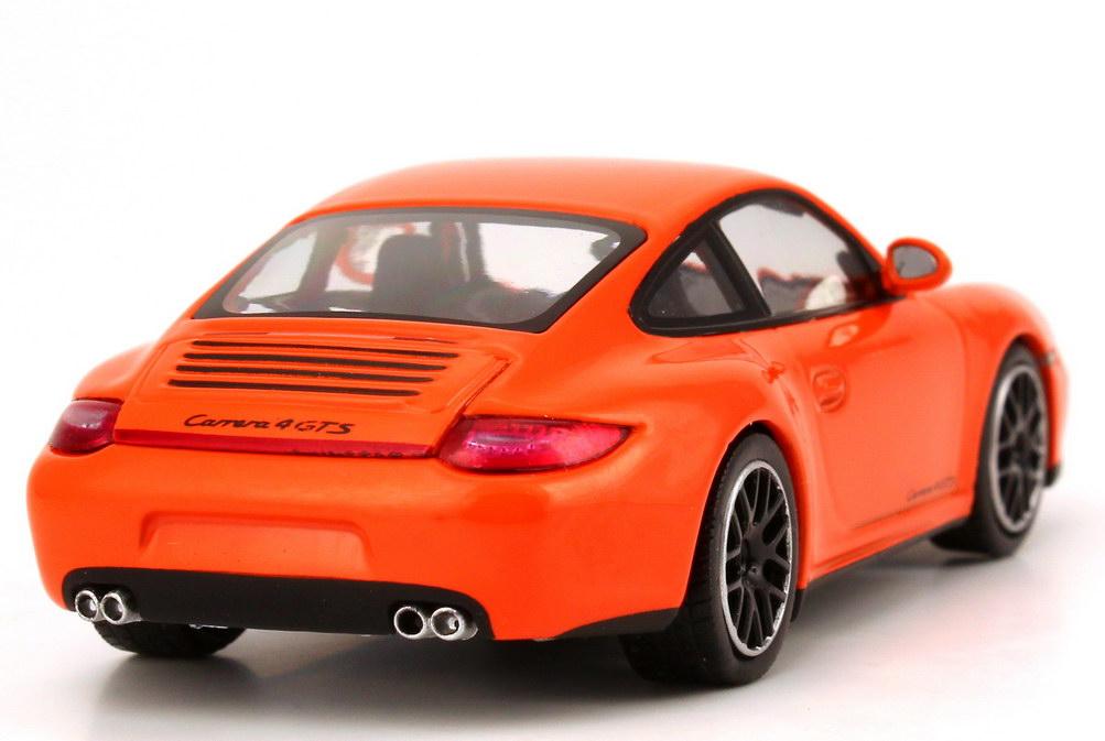 1 43 porsche 911 carrera gts type 997 model 2011 pastell orange dealer ebay. Black Bedroom Furniture Sets. Home Design Ideas