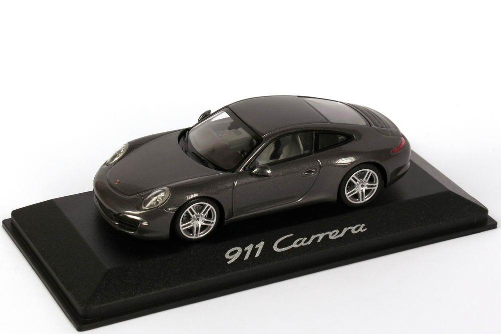 1 43 porsche 911 carrera 991 achat grau met werbemodell minichamps wap0200100c. Black Bedroom Furniture Sets. Home Design Ideas