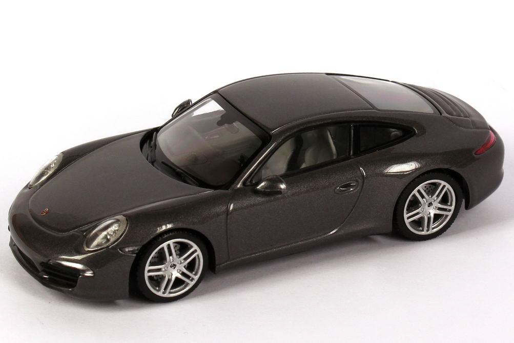 porsche 911 carrera 991 achat grau met werbemodell minichamps wap0200100c bild 2. Black Bedroom Furniture Sets. Home Design Ideas