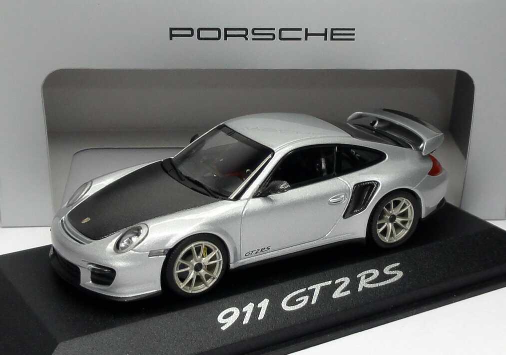 1 43 porsche 911 gt2 rs 997 modell 2010 silber met werbemodell minichamps wap0200070b. Black Bedroom Furniture Sets. Home Design Ideas