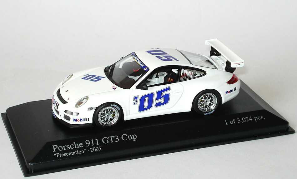 Foto 1:43 Porsche 911 GT3 Cup (997) Präsentationsfahrzeug 2005 ´05 Minichamps 400056400