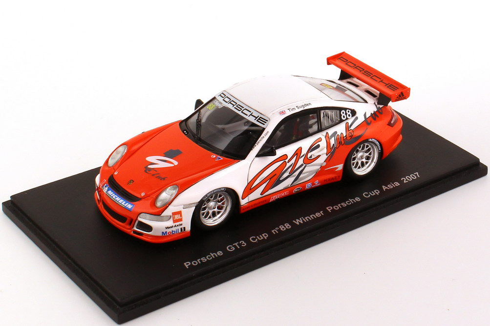 "1:43 Porsche 911 GT3 Cup (997) Porsche Cup Asia 2007 ""91 Club"" Nr.88, Tim Sugden (Winner)"