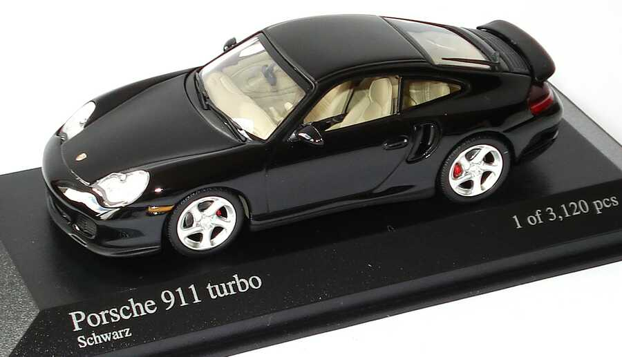 1 43 porsche 911 turbo 996 schwarz minichamps 430069309. Black Bedroom Furniture Sets. Home Design Ideas