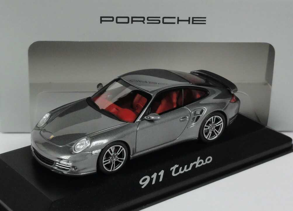 1 43 porsche 911 turbo 997 2010 meteorgrau grau grey ebay. Black Bedroom Furniture Sets. Home Design Ideas