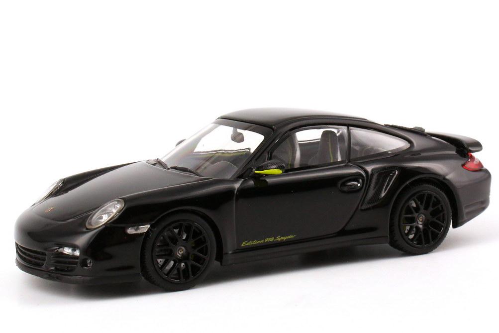 Porsche 911 Turbo S 997 Edition 918 Spyder Schwarz Met