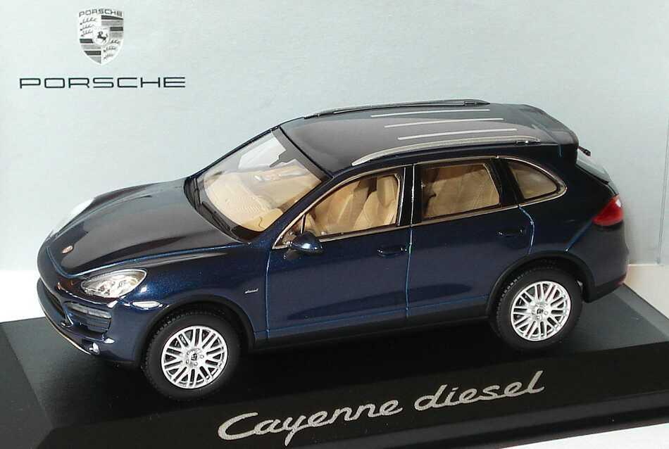 1:43 Porsche Cayenne Diesel 2010 (92A) dunkelblau-met. (Porsche)