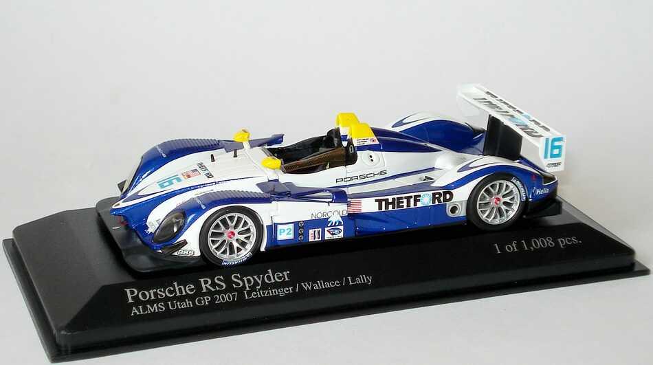 1:43 Porsche RS Spyder ALMS 2007 Utah GP