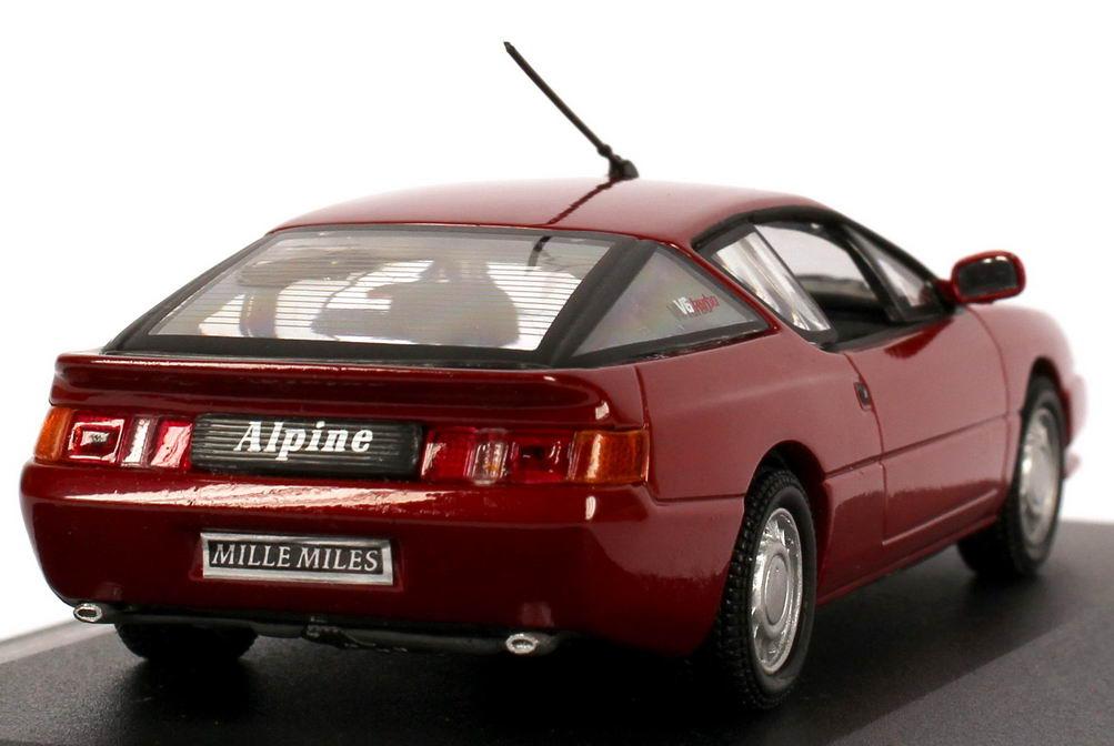 1 43 renault alpine gta v6 turbo edition mille milles red red metallic uh 1681. Black Bedroom Furniture Sets. Home Design Ideas
