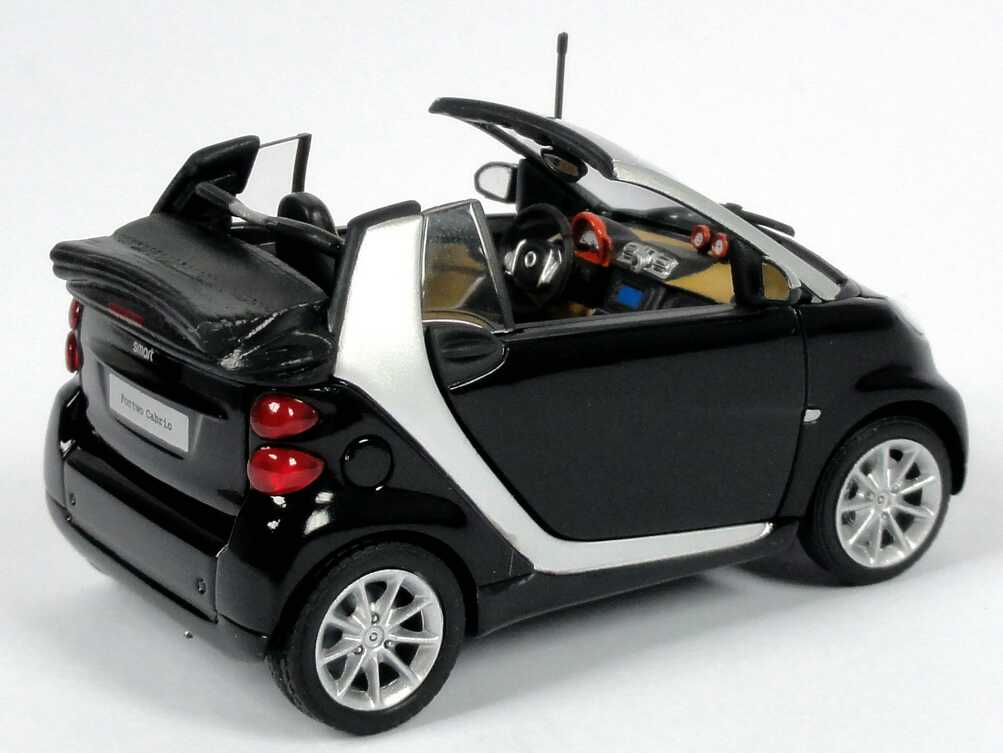 1 43 smart cabrio a451 mopf tiefschwarz schwarz black. Black Bedroom Furniture Sets. Home Design Ideas