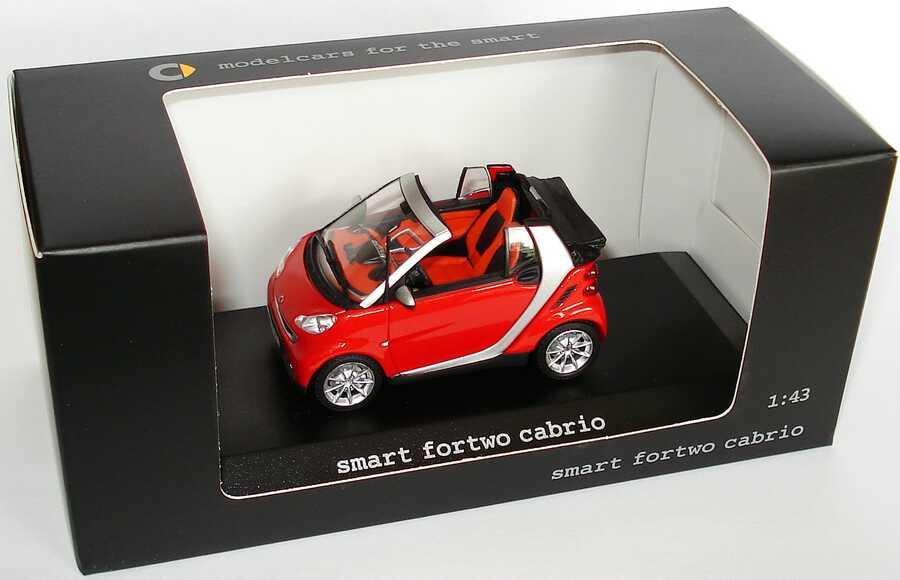 1:43 Smart Fortwo II Cabrio (A451) rotmet. (Smart)