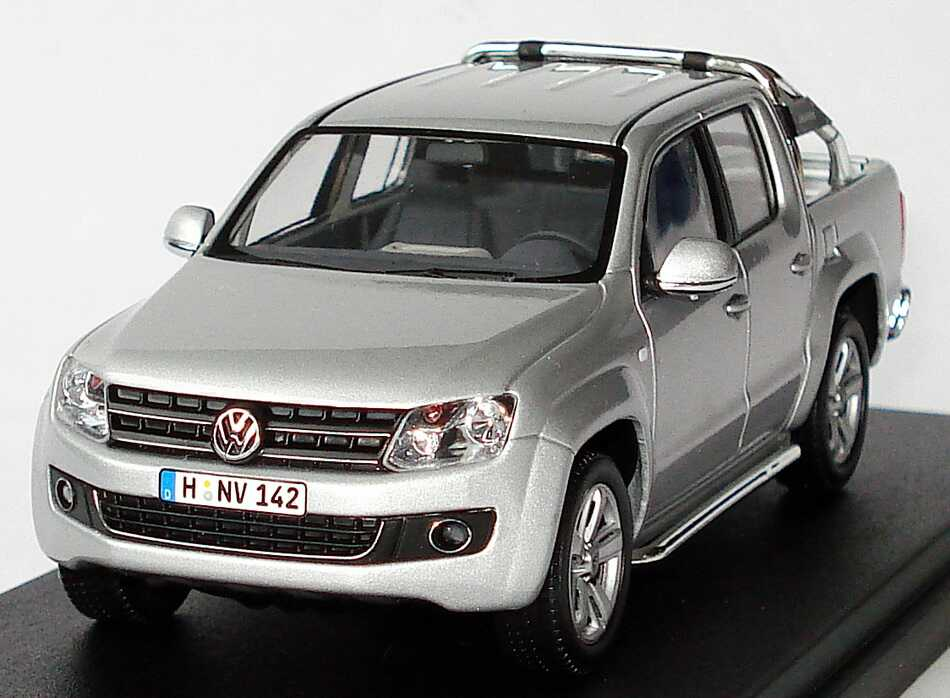 1 43 vw amarok pick up 2010 silver silber volkswagen dealer edition oem ebay. Black Bedroom Furniture Sets. Home Design Ideas