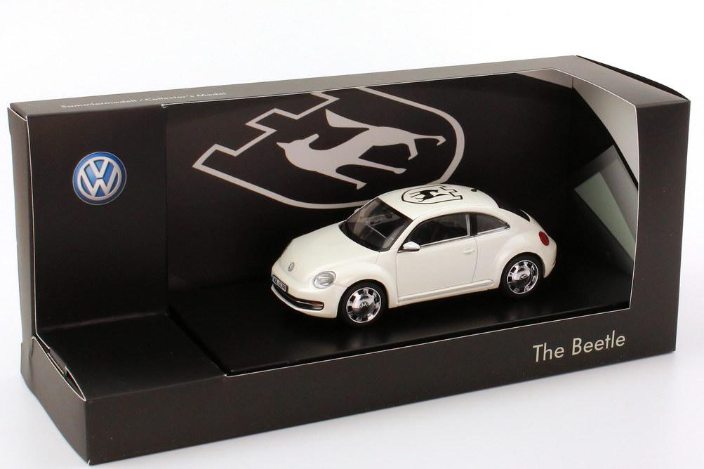"""1:43 VW Beetle (2011) weiß """"Wolfsburg"""" (VW)"""