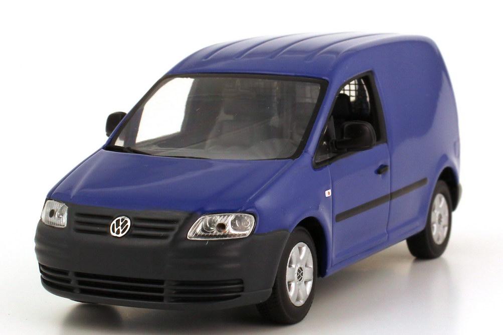 vw caddy iii typ 2k kasten blau werbemodell minichamps. Black Bedroom Furniture Sets. Home Design Ideas