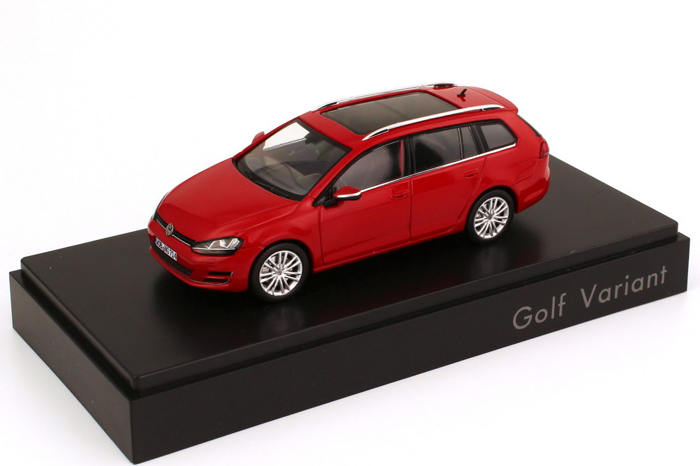 1 43 vw golf vii variant 2013 tornadorot werbemodell spark 5g9099300y3d. Black Bedroom Furniture Sets. Home Design Ideas