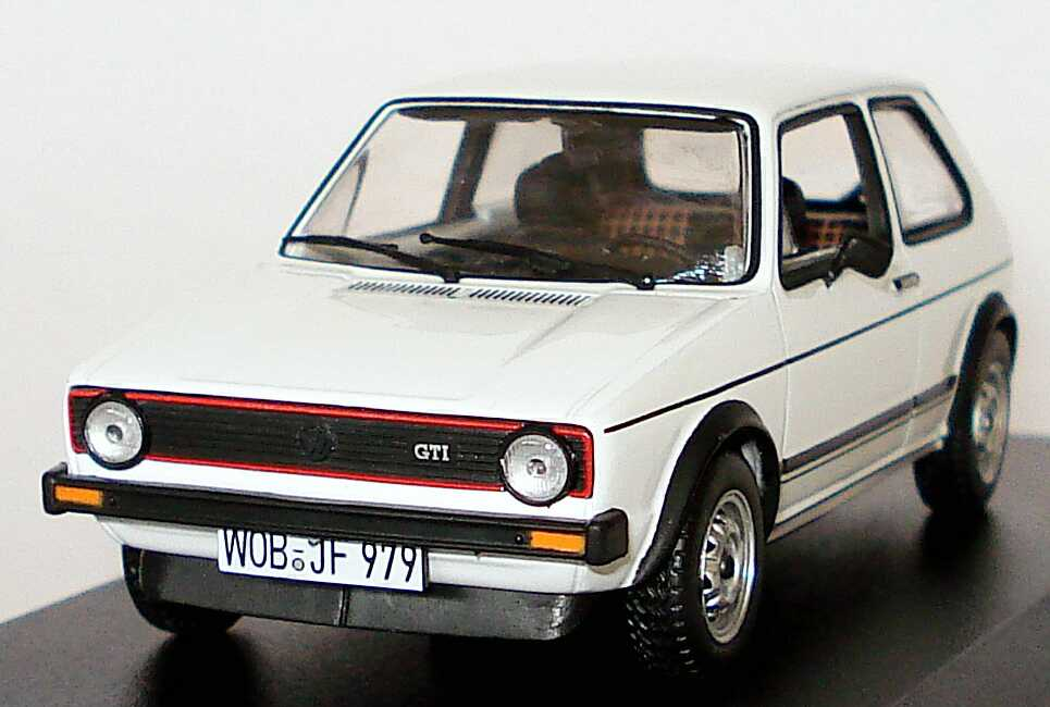 vw golf i gti wei werbemodell norev 173099300b9a bild 2. Black Bedroom Furniture Sets. Home Design Ideas