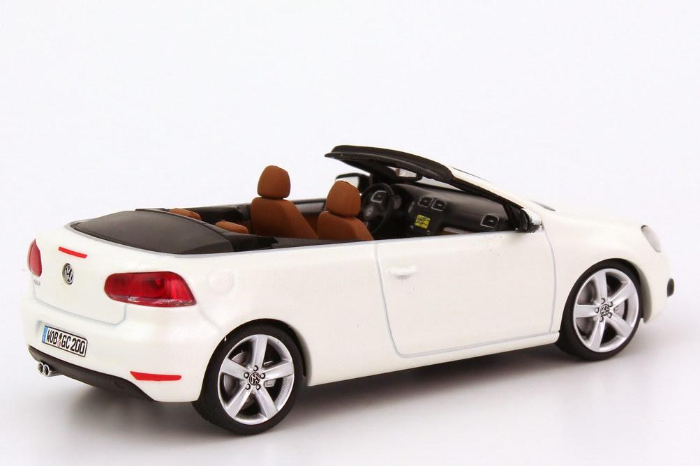 1 43 vw golf vi 6 cabrio oryx wei perlmutteffekt white volkswagen dealer ed ebay. Black Bedroom Furniture Sets. Home Design Ideas