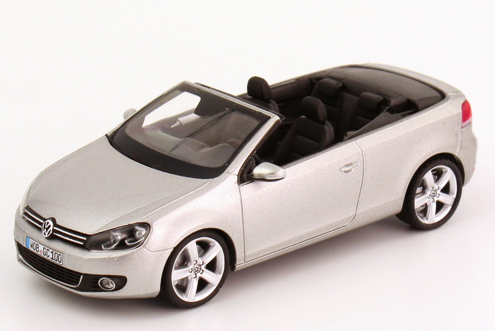 1 43 vw golf vi 6 cabriolet 2011 tungsten silver silver ebay. Black Bedroom Furniture Sets. Home Design Ideas