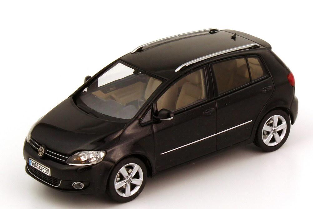 1 43 vw golf plus gp 2009 deepblack black black volkswagen dealer edition ebay. Black Bedroom Furniture Sets. Home Design Ideas